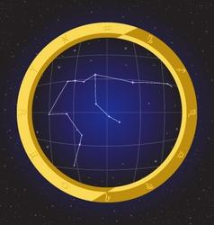 aquarius star horoscope zodiac in fish eye vector image