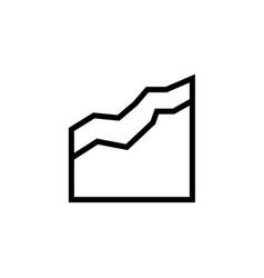 area chart icon simple thin line outline of vector image