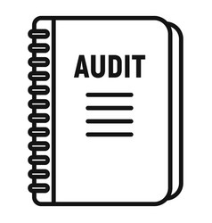Audit notebook icon outline style vector