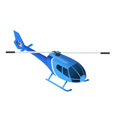 blue helicopter icon isometric style vector image