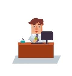 Business Man Got Salary Cartoon Character vector