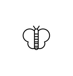 butterfly bug icon vector image