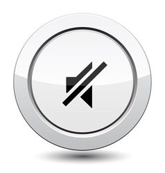 Button with sound off vector image