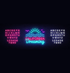 california neon sign california dreaming vector image