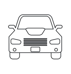 car sedan vehicle transport icon linear vector image