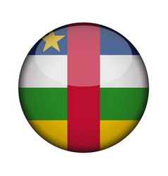 central african republic flag in glossy round vector image