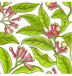 clove branch pattern vector image