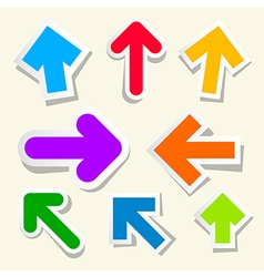 Colorful paper arrows set vector
