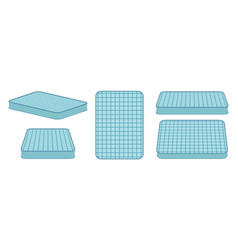 Comfortable mattress for sleeping in different vector
