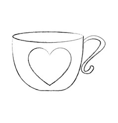 Cute tea cup icon vector
