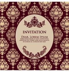 Damask Filigree Invitation Card vector