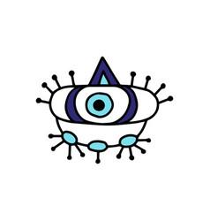 Decorative element with evil eye talisman cartoon vector