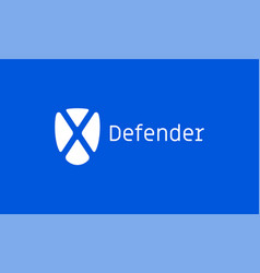 defender x shield internet technology icon vector image
