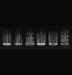 Energy portals with glowing effect neon beams vector