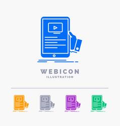 forum online webinar seminar tutorial 5 color vector image