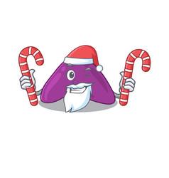 Friendly adrenal dressed in santa cartoon vector