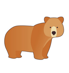 funny brown bear in cartoon style isolated on vector image