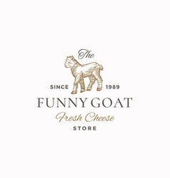 funny goat abstract sign symbol or vector image