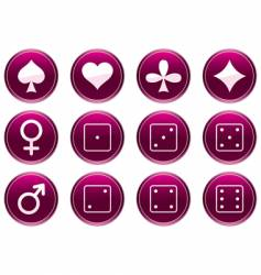 games icons vector image
