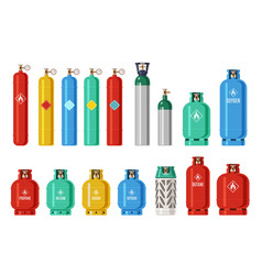 Gas cylinders lpg propane container oxygen gas vector
