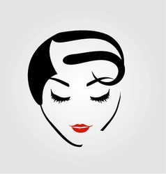 Graphic of a woman with vintage hairstyle vector image
