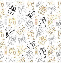 gray and gold christmas seamless pattern with new vector image