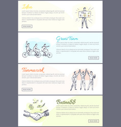 great team teamwork collection vector image