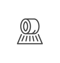 hay roll line icon vector image