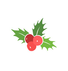 holly berry symbol vector image