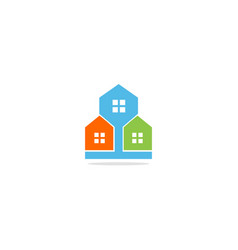 home realty colorful company logo vector image