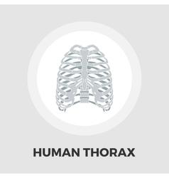 Human thorax flat icon vector