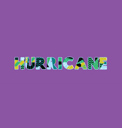 Hurricane concept word art vector