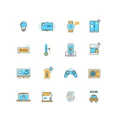 Internet of things internet technology vector image