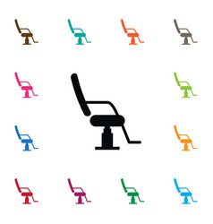 isolated chair icon interior element can vector image
