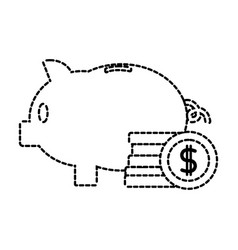 Isolated piggy design vector