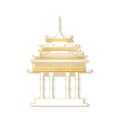 japan gateway with decorated golden roof vector image