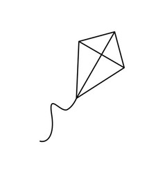 kite of icon vector image