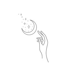 logo design element with moon vector image