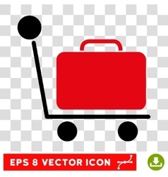 Luggage Trolley Eps Icon vector image