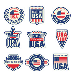 made in usa national authentic labels or badges vector image