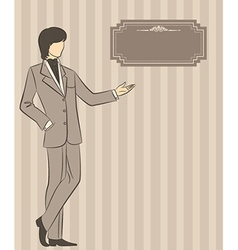 Man in a suit vector image