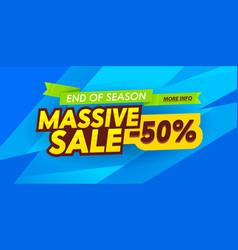 Massive sale social media promo ad poster banner vector