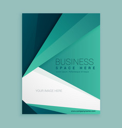 Minimal green business brochure design vector