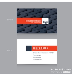 modern dark grey business card name card template vector image
