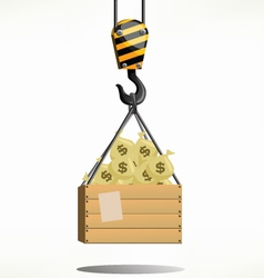 Money crane vector