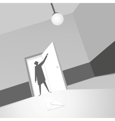 Note in the room vector image