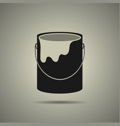 paint bucket icon flat style vector image