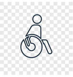 paralympic concept linear icon isolated on vector image