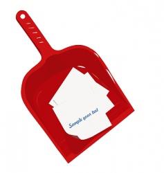 Plastic scoop and sticker vector