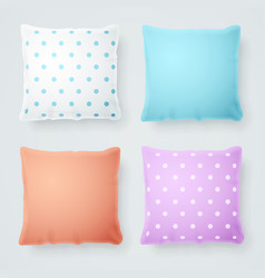 Realistic detailed 3d pillow mock up vector